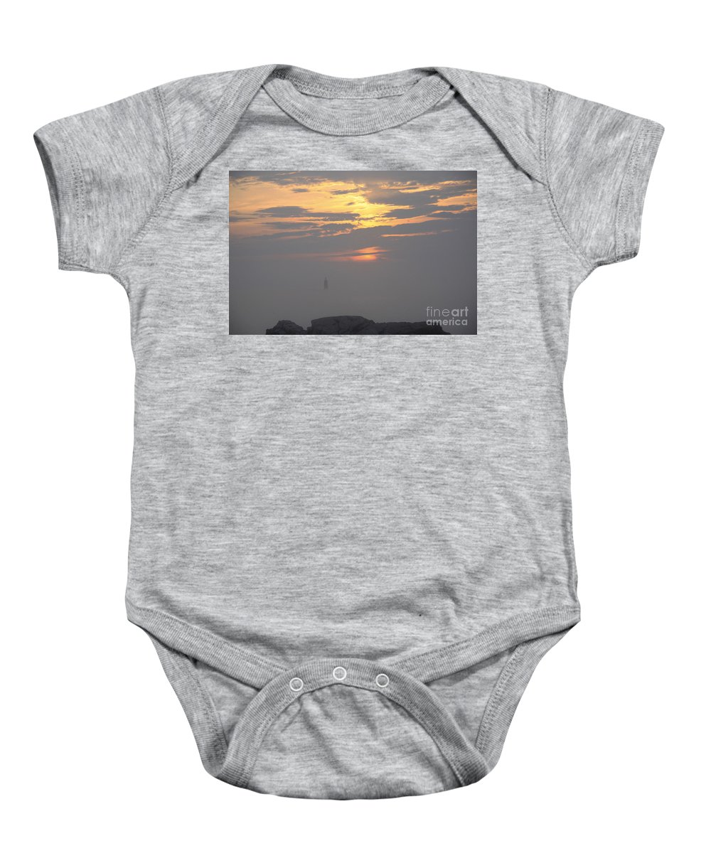 Maine Baby Onesie featuring the photograph Trying To Shine by Michael Mooney
