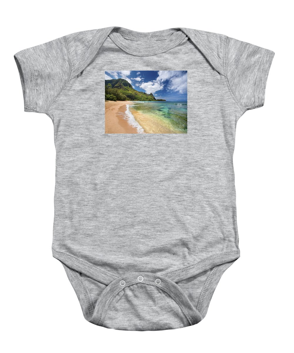 Afternoon Baby Onesie featuring the photograph Tunnels Beach Bali Hai Point by M Swiet Productions