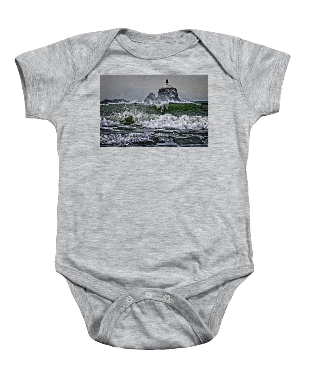 Turbulent Waters Baby Onesie featuring the photograph Turbulent Waters by Wes and Dotty Weber