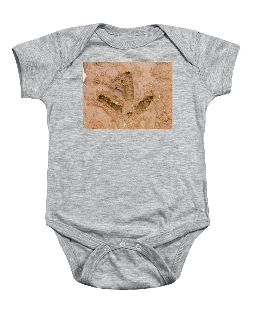 Wild Baby Onesie featuring the photograph Turkey Track by Nick Kirby