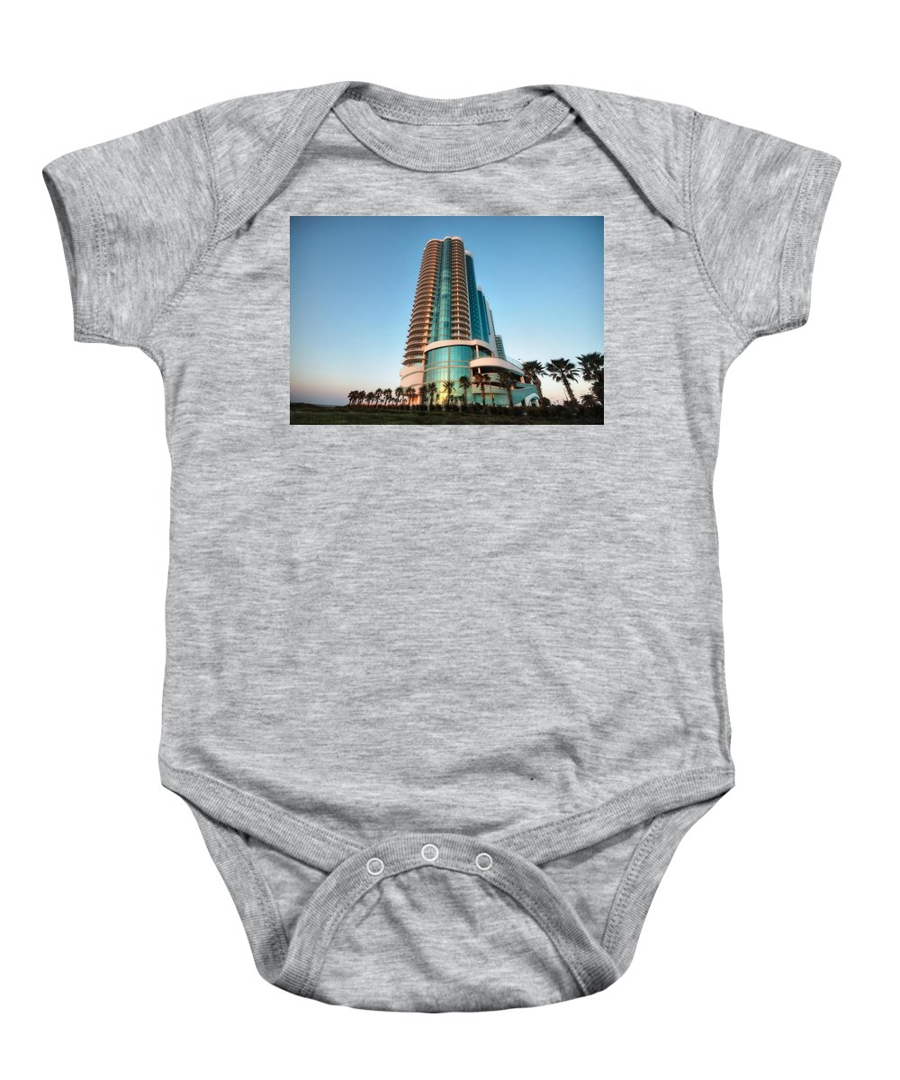 Alabama Photographer Baby Onesie featuring the digital art Turquoise Place Rising by Michael Thomas