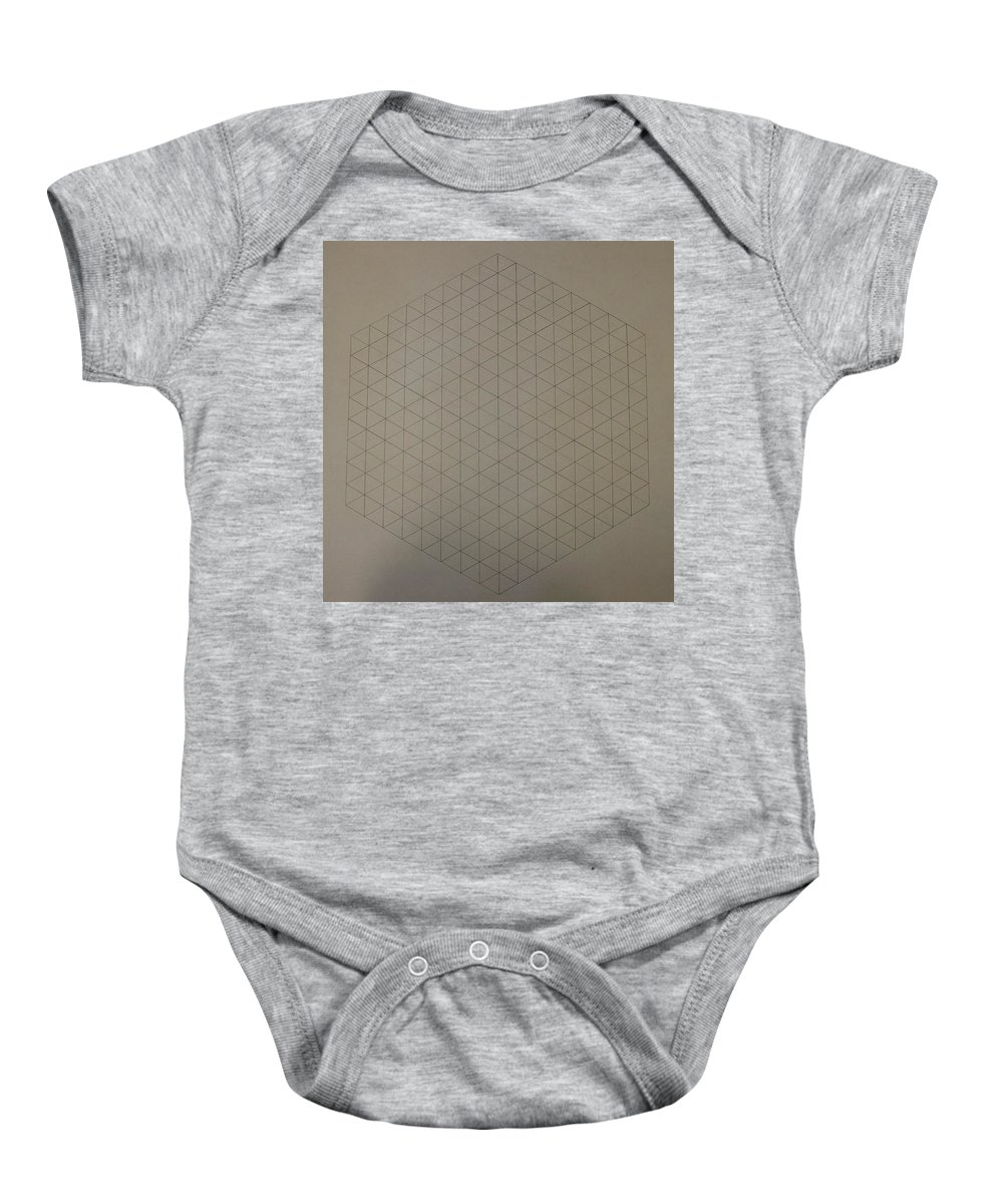 Math Baby Onesie featuring the drawing Two To The Power Of Nine Or Eight Cubed by Jason Padgett