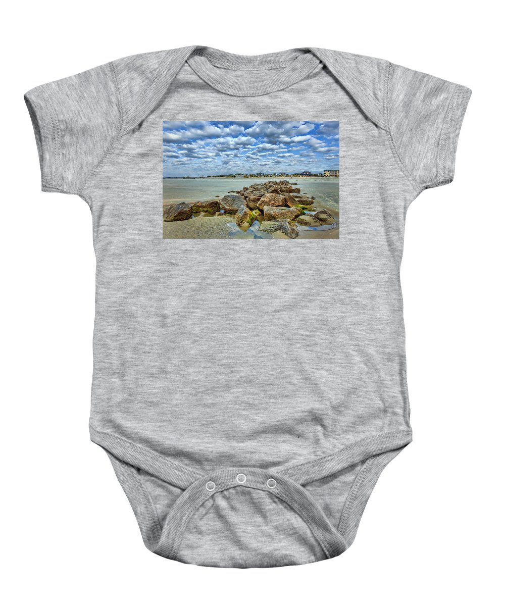 Tybee Island Baby Onesie featuring the photograph Tybee Beach by Diana Powell