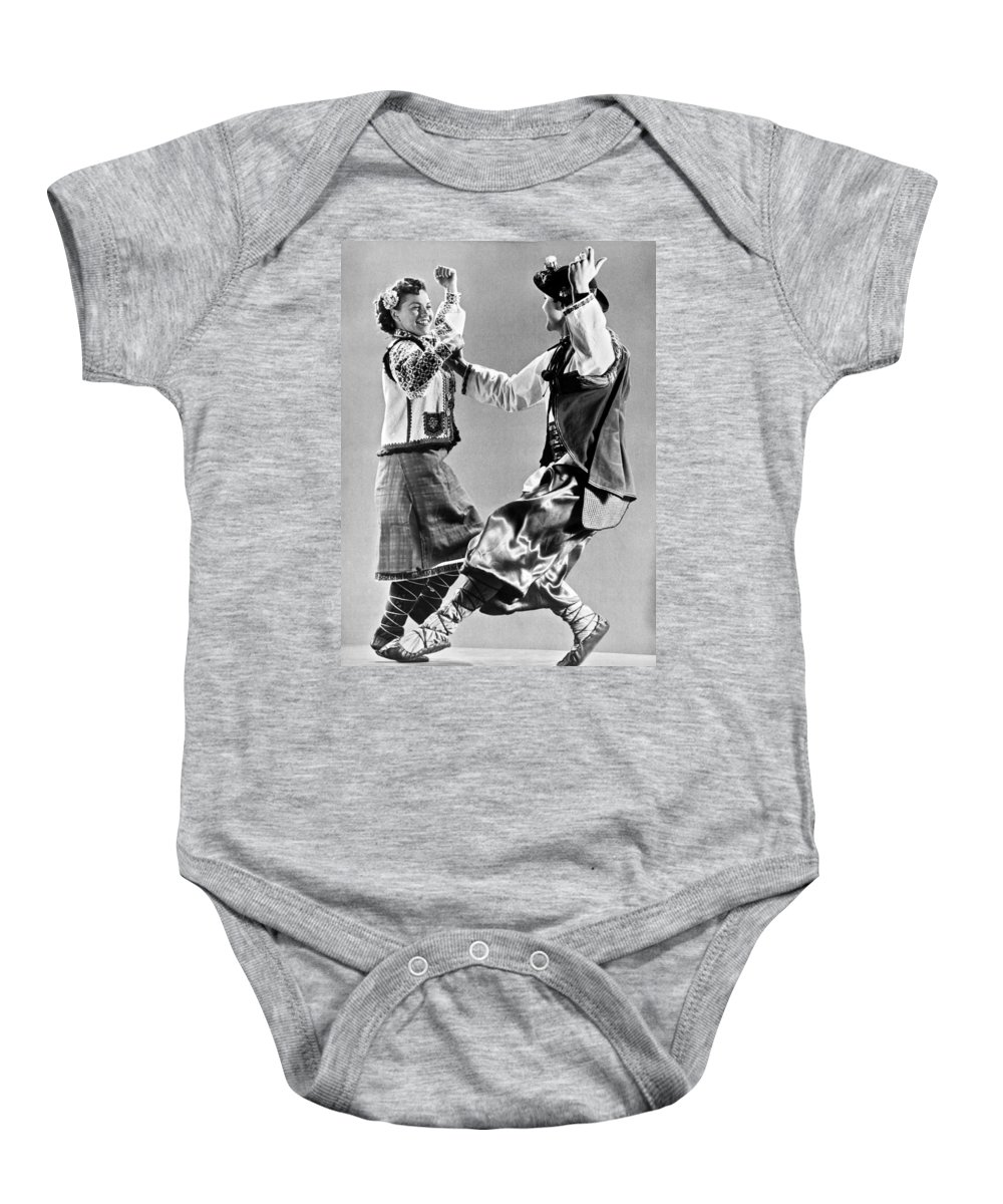 1942 Baby Onesie featuring the photograph Ukrainian Folk Dancers by Underwood Archives