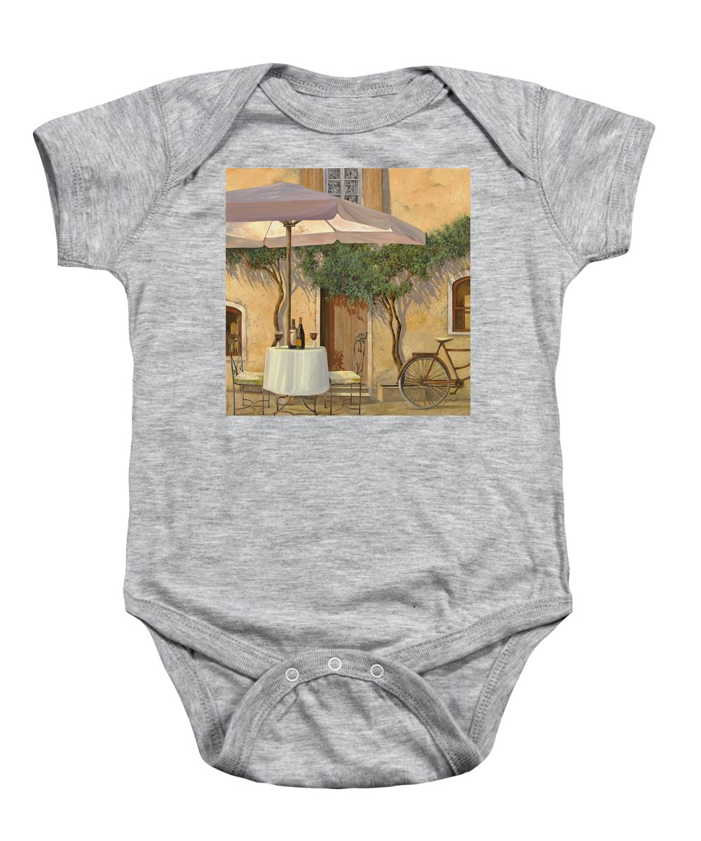 Courtyard Baby Onesie featuring the painting Un Ombra In Cortile by Guido Borelli