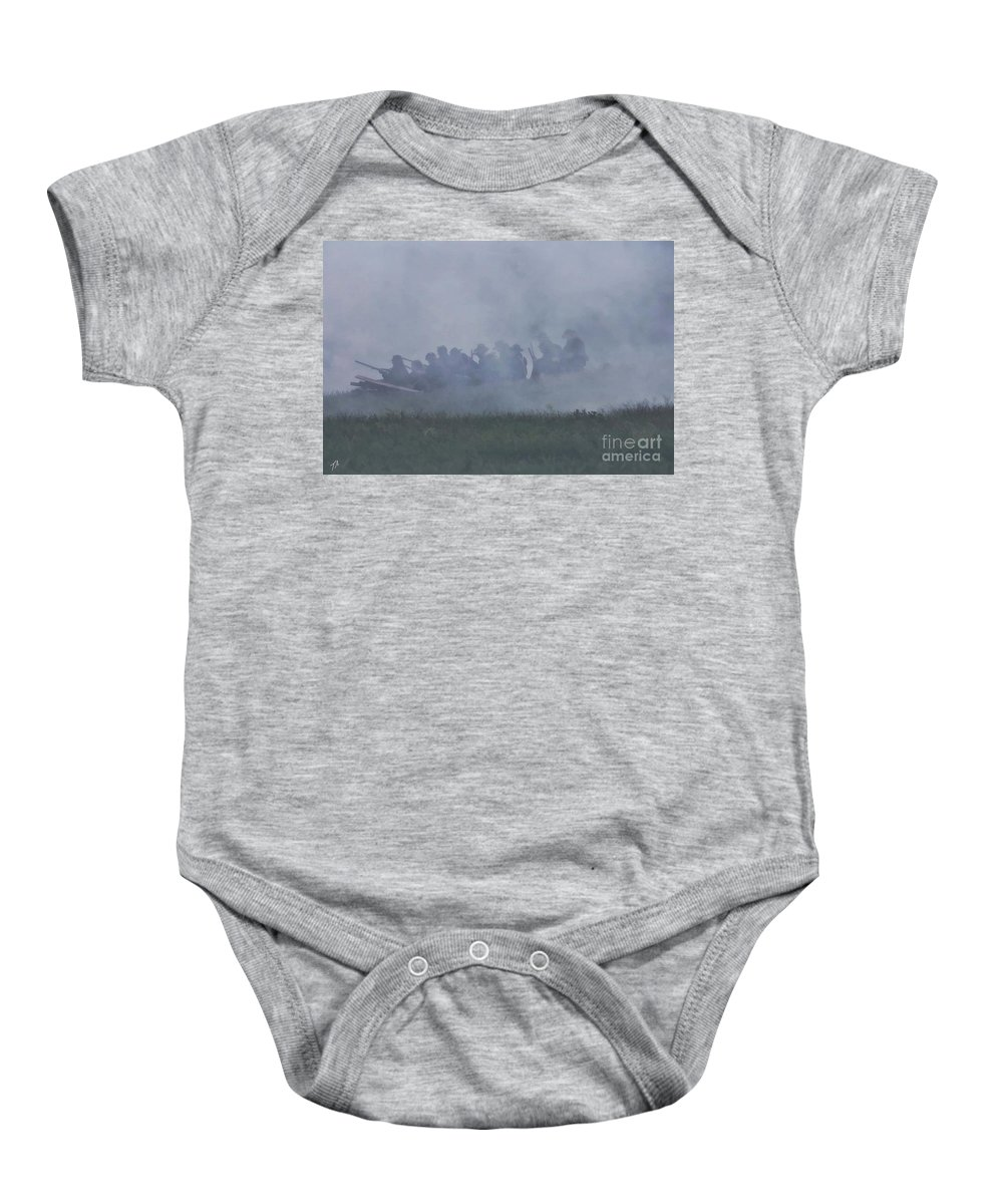 Civil War Baby Onesie featuring the photograph Union Skirmish Line by Tommy Anderson