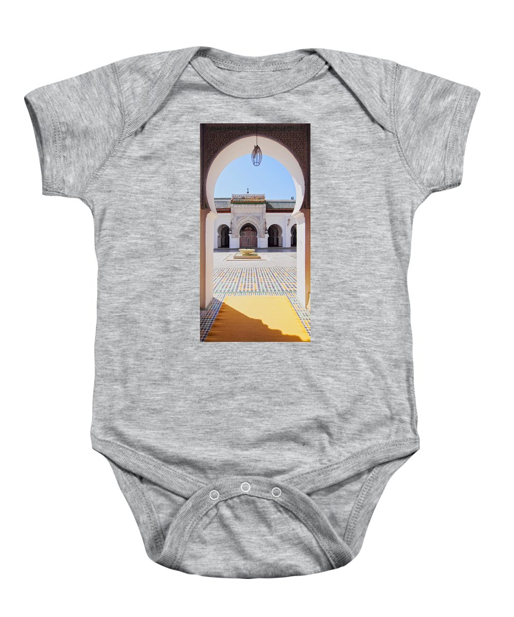 Africa Baby Onesie featuring the photograph University Of Al-karaouine In Fes In Morocco by Karol Kozlowski