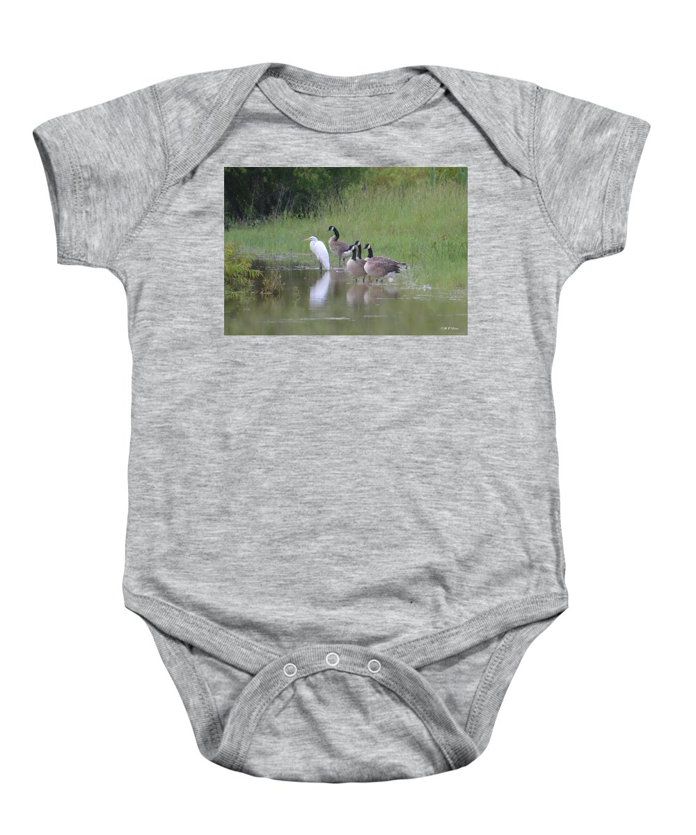 Upon The Misty Waters Baby Onesie featuring the photograph Upon The Misty Waters by Maria Urso