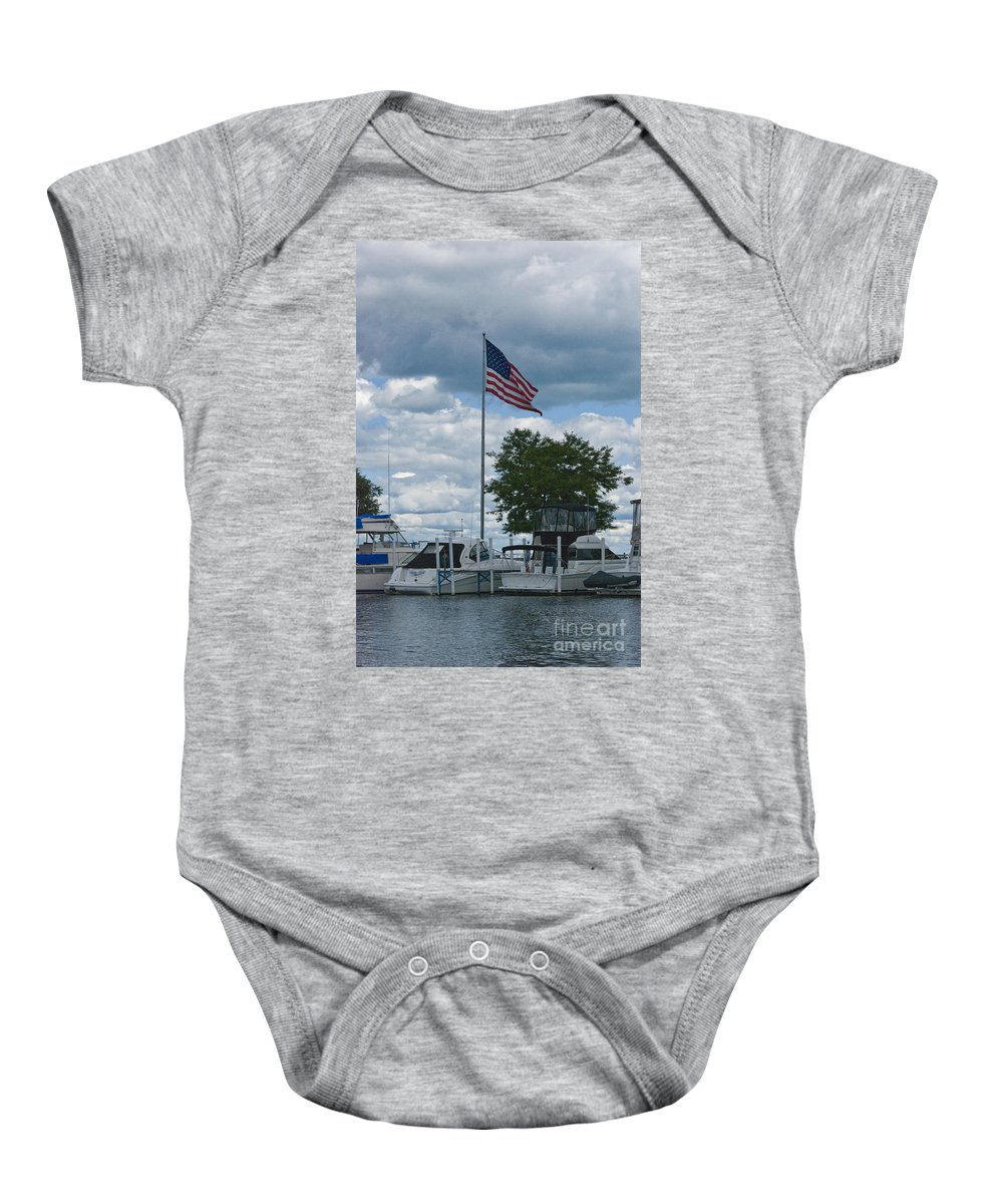 Usa Baby Onesie featuring the photograph Usa Flag 10 by Thomas Woolworth