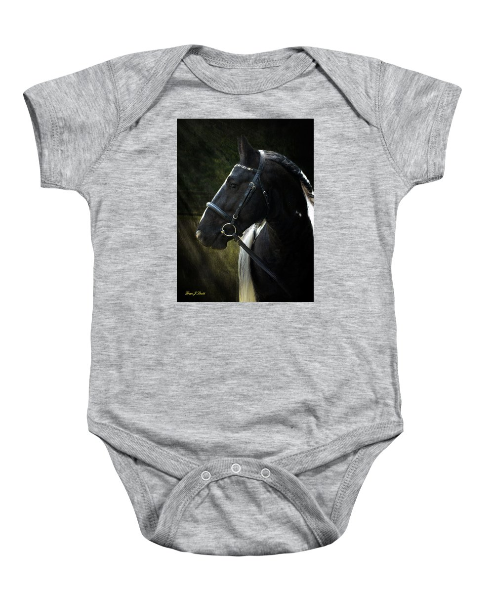 Horses Baby Onesie featuring the photograph Val Headshot by Fran J Scott