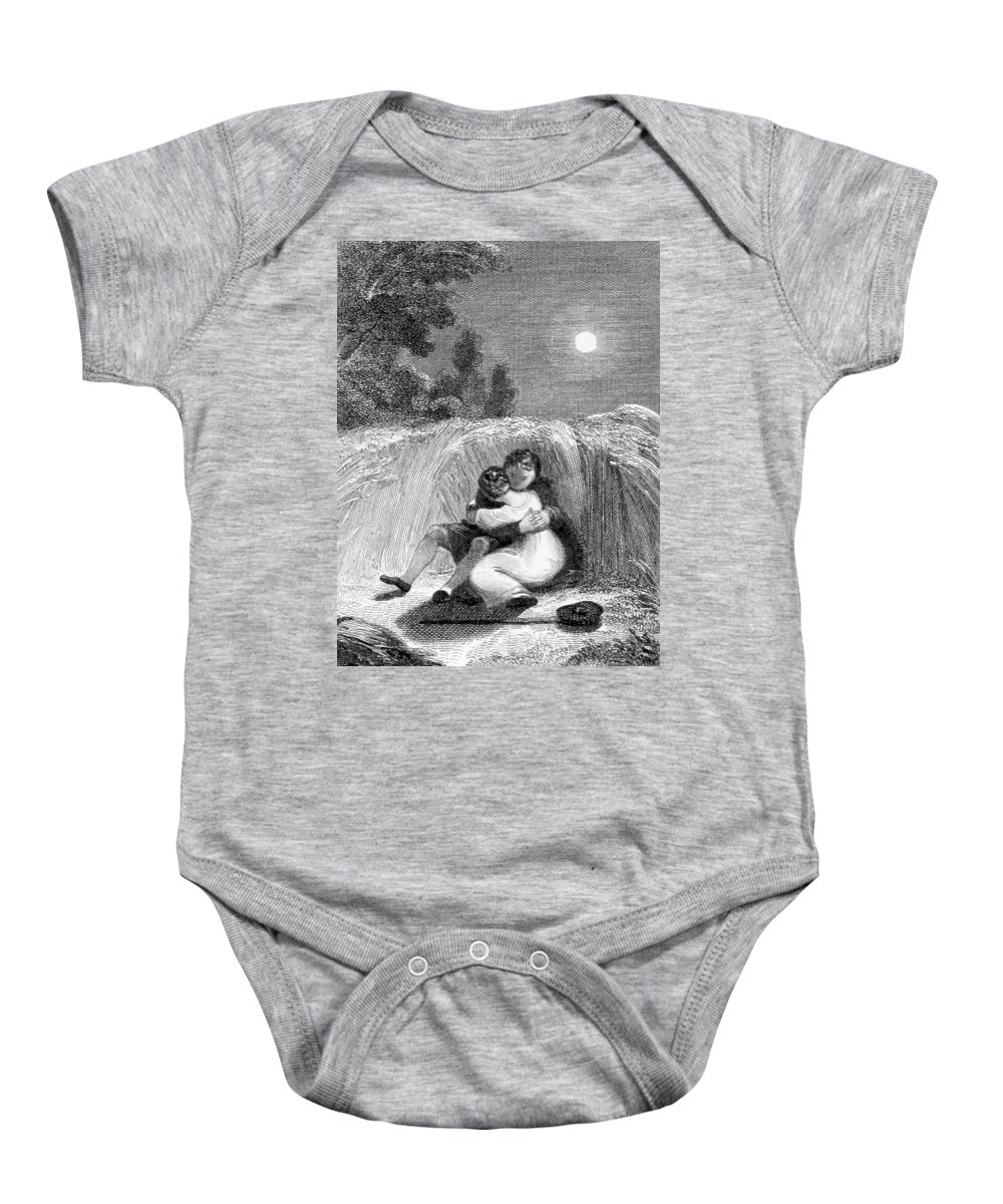 Holiday Baby Onesie featuring the photograph Valentines Day, 1811 by British Library