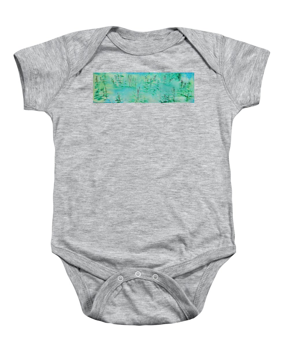 Outdoors Baby Onesie featuring the painting Vancouver Island by Paulette B Wright