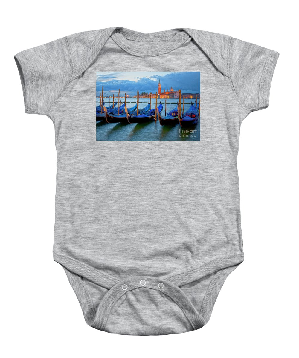 Venice Baby Onesie featuring the photograph Venice View To San Giorgio Maggiore by Heiko Koehrer-Wagner