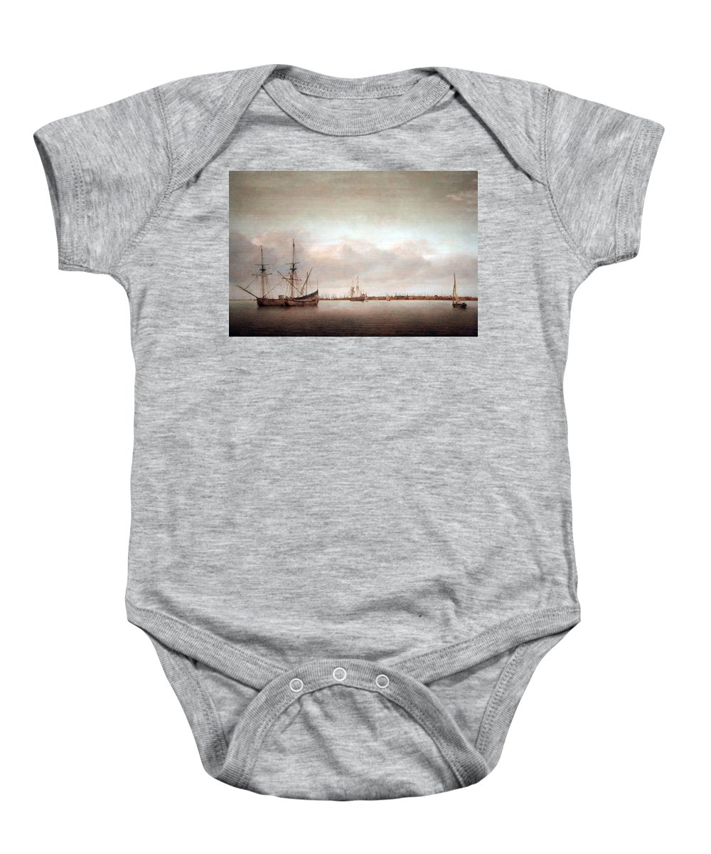View Of Hoorn Baby Onesie featuring the photograph Verwer's View Of Hoorn by Cora Wandel