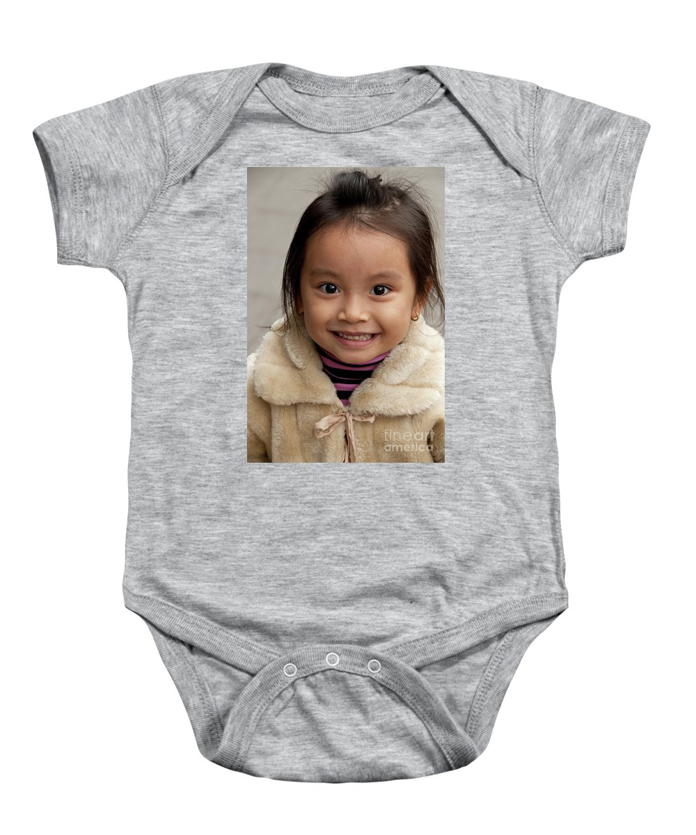 Vietnam Baby Onesie featuring the photograph Vietnamese Girl 03 by Rick Piper Photography