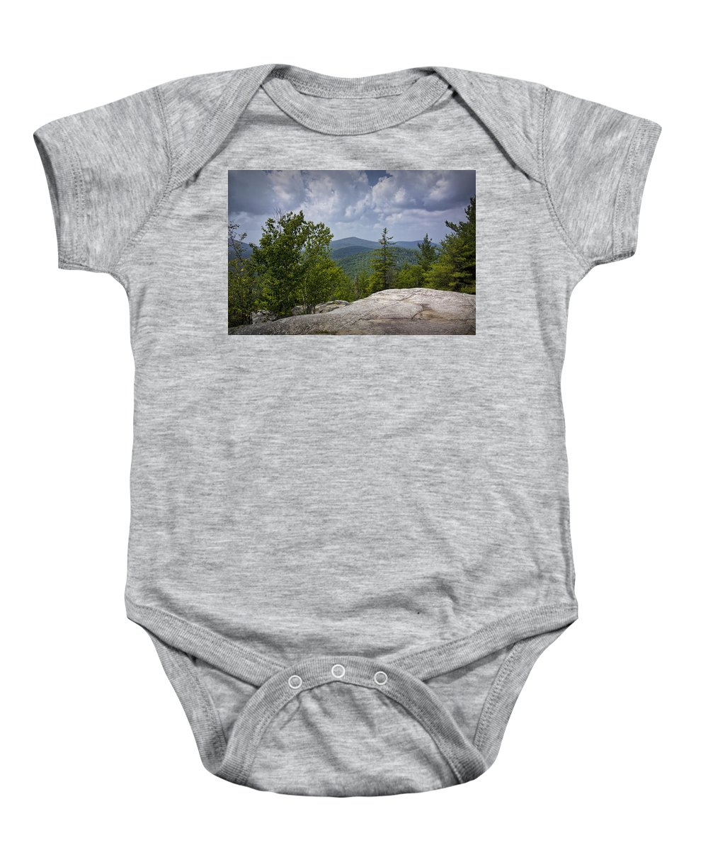 Art Baby Onesie featuring the photograph View From A Mountain In A Vermont by Randall Nyhof