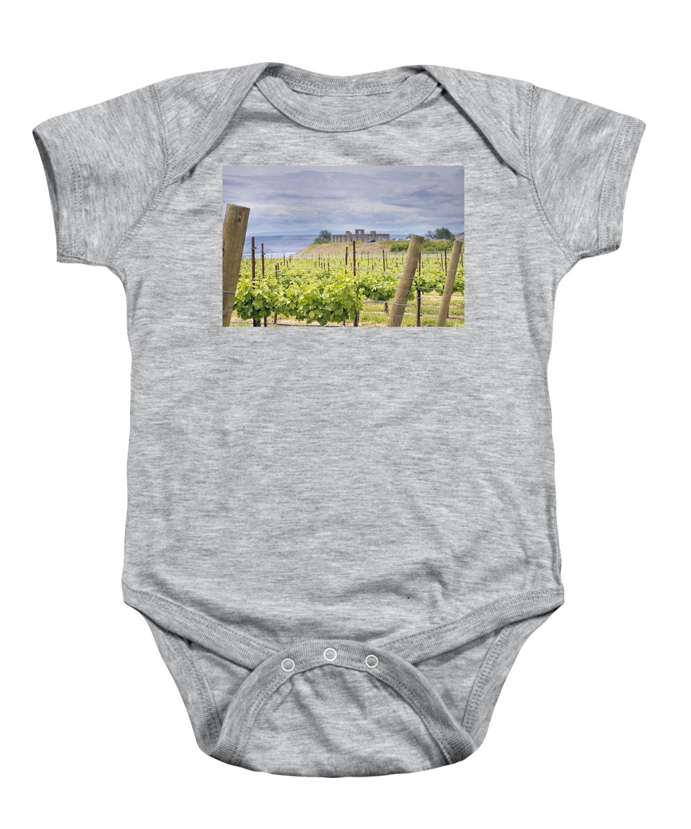 Winery Baby Onesie featuring the photograph Vineyard In Maryhill Washington State by Jit Lim