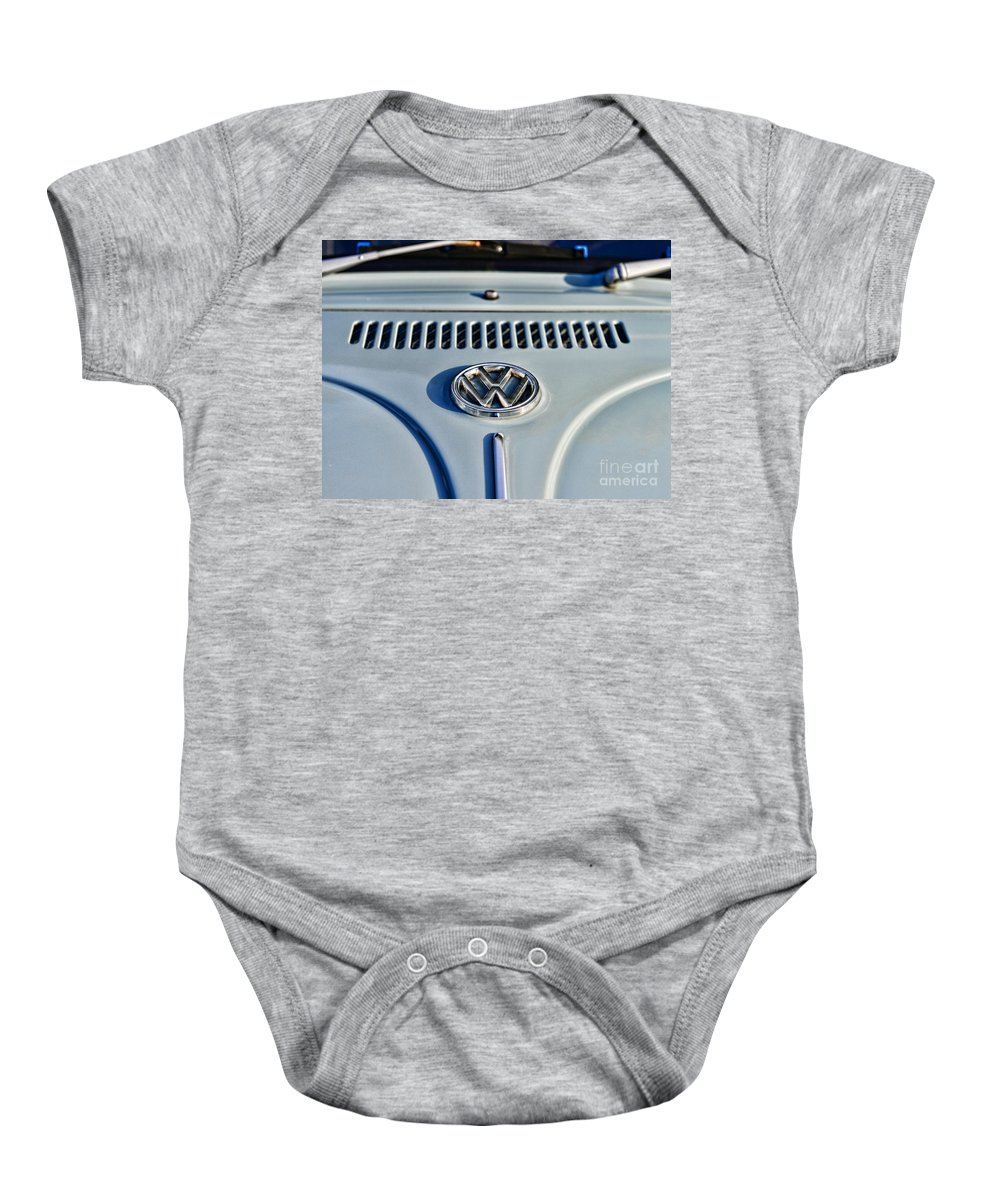 Paul Ward Baby Onesie featuring the photograph Vw Volkswagen Bug Beetle by Paul Ward