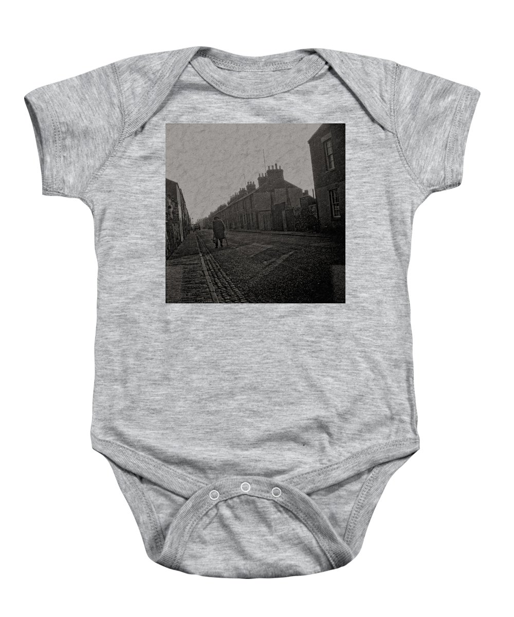 Baby Onesie featuring the digital art Walking Down The Street by Cathy Anderson