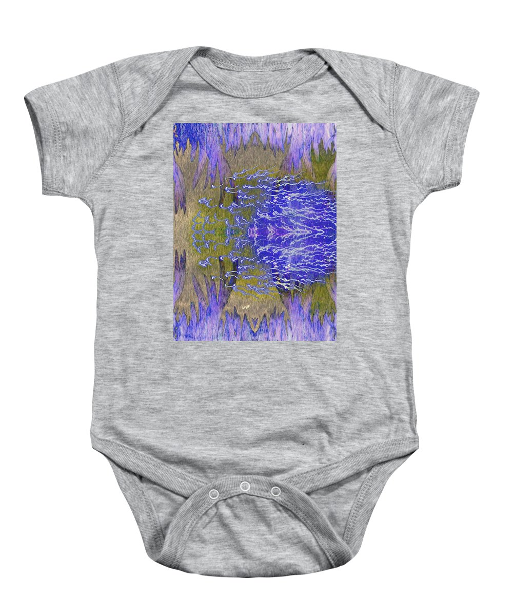 Geometric Baby Onesie featuring the photograph Wandering By by Candee Lucas