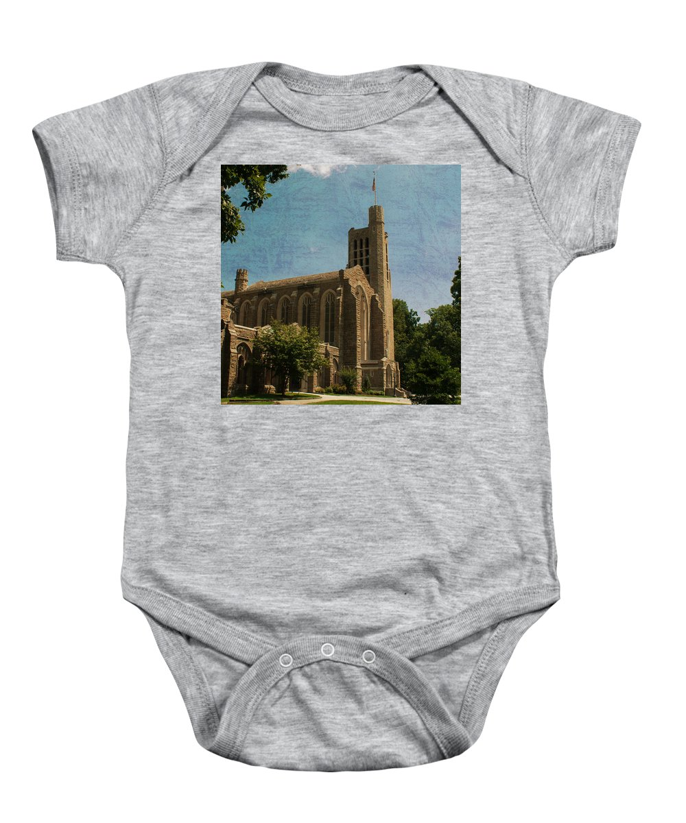 Washington Memorial Chapel Baby Onesie featuring the photograph Washington Memorial Chapel by Michael Porchik