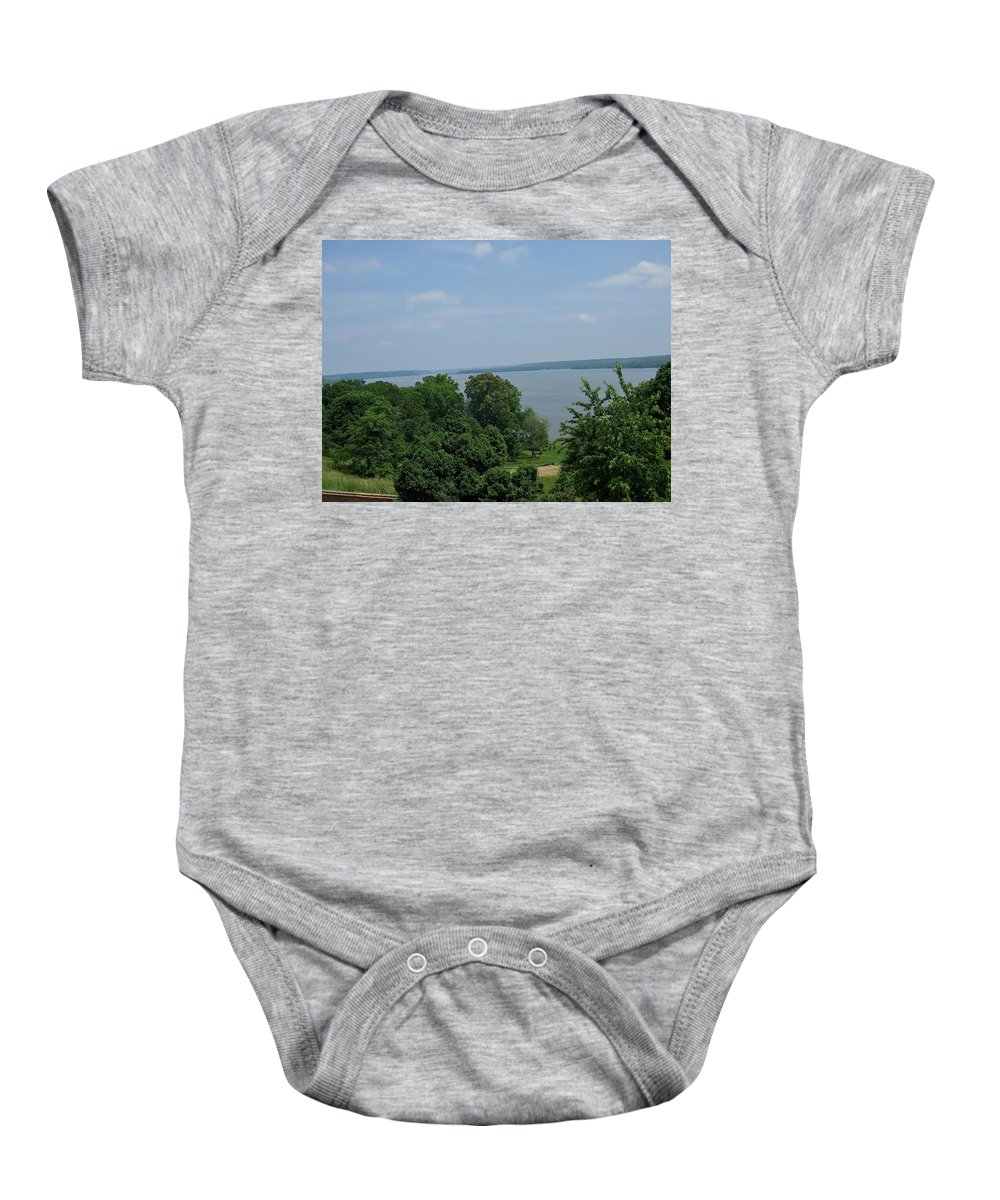 Lawn Baby Onesie featuring the photograph Washington's View From Mt. Vernon by Susan Wyman