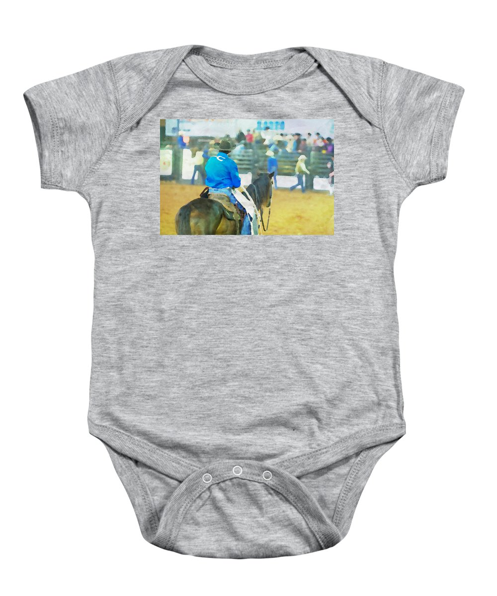 Cowboy Baby Onesie featuring the photograph Watching And Waiting by Alice Gipson