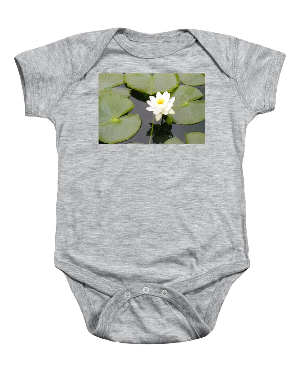 Flora Baby Onesie featuring the photograph Water Lily I I by Jim Smith