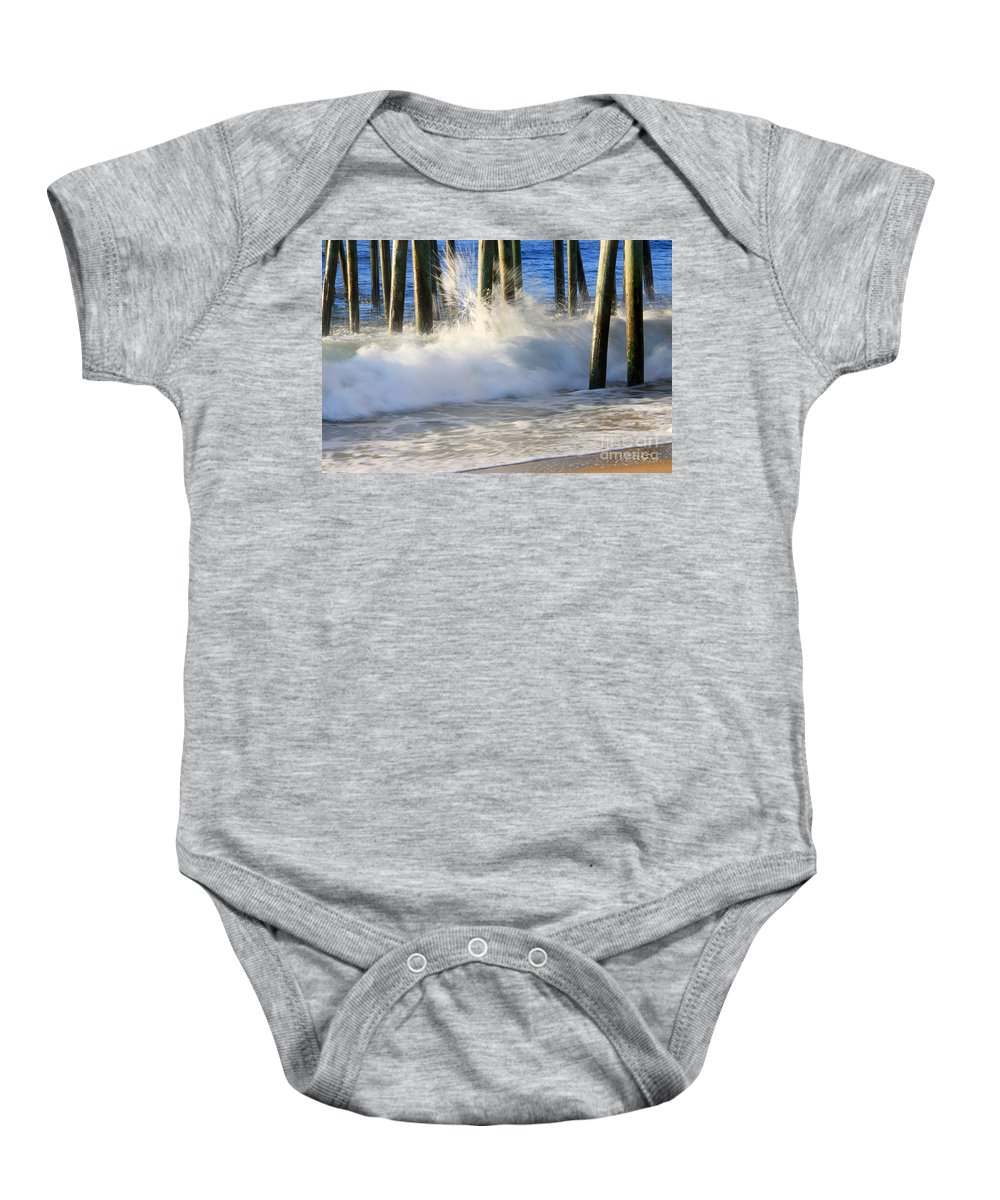 Wave Art Photographs Baby Onesie featuring the photograph Wave Art 10 by Michael Mooney