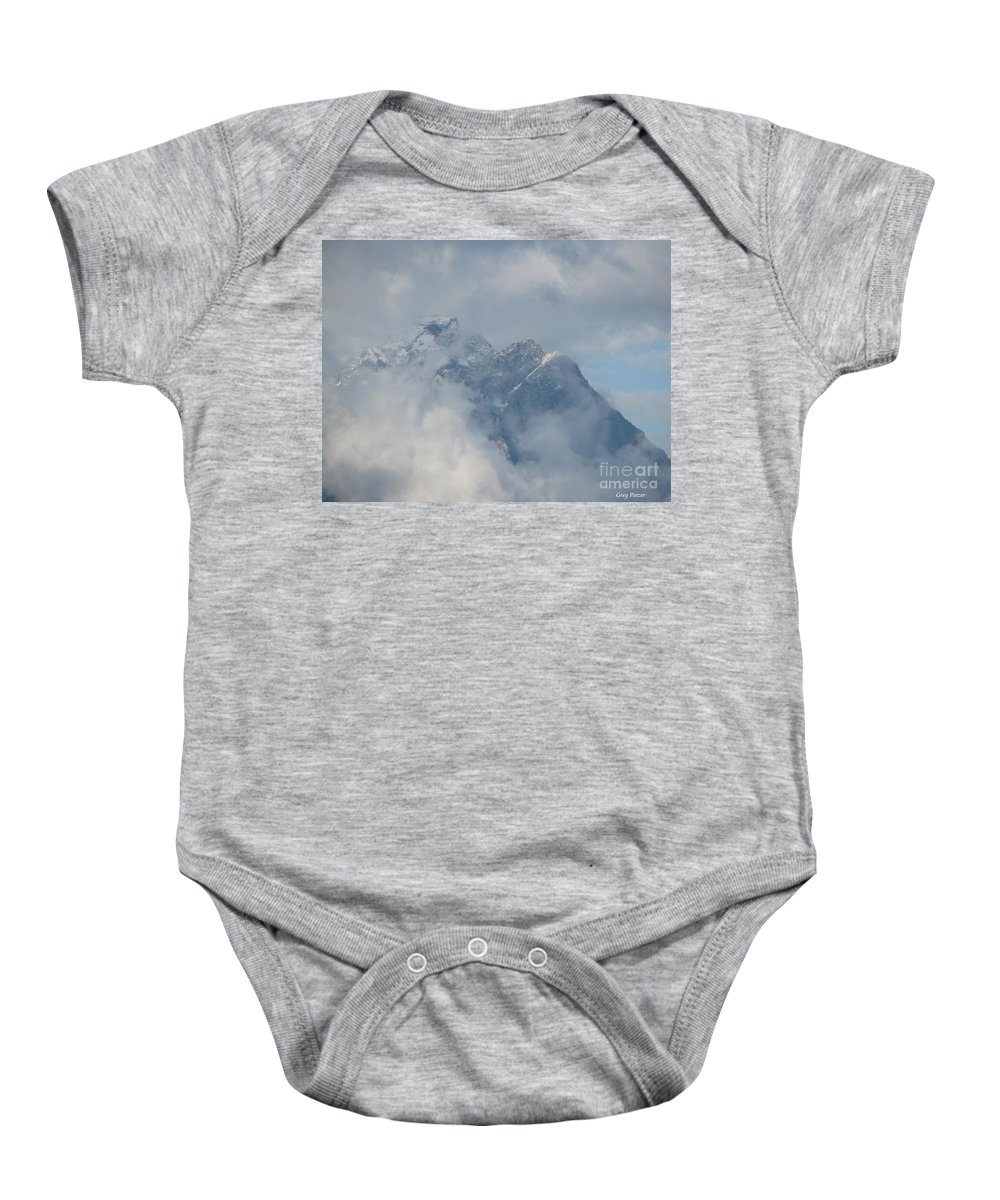 Patzer Baby Onesie featuring the photograph Way Up Here by Greg Patzer