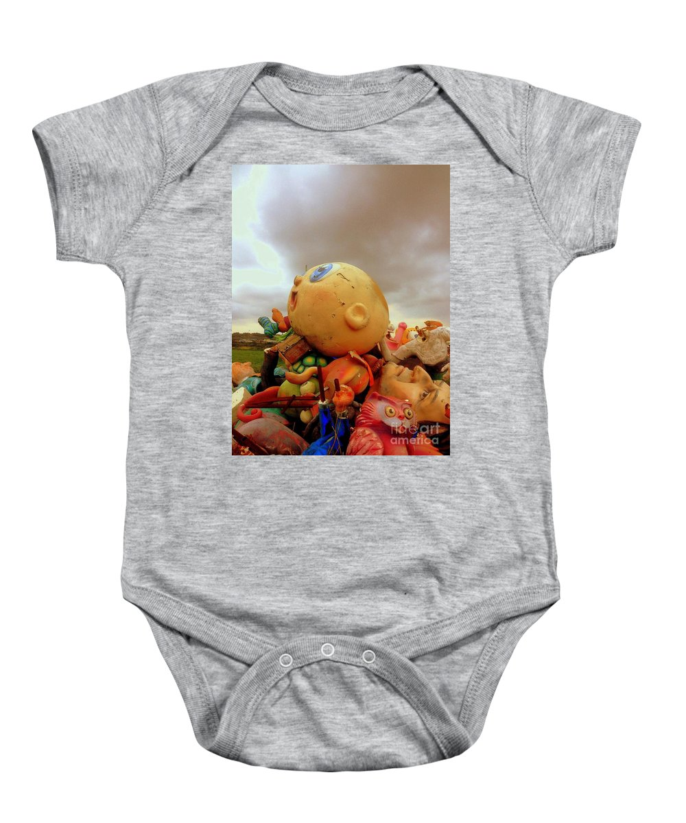 We Are Here Baby Onesie featuring the photograph We Are Here by Noa Yerushalmi
