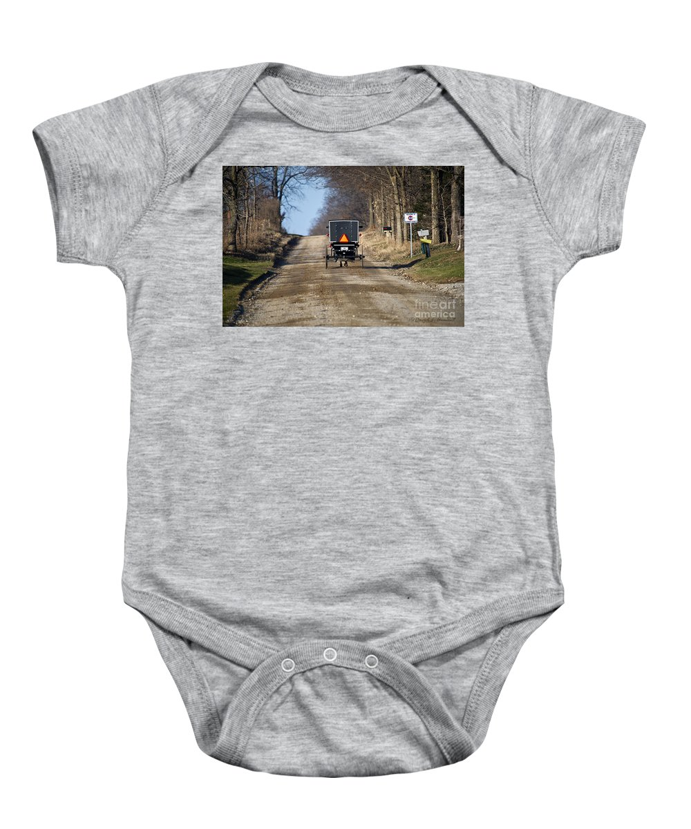 Amish Baby Onesie featuring the photograph Welcome To Elkart County by David Arment