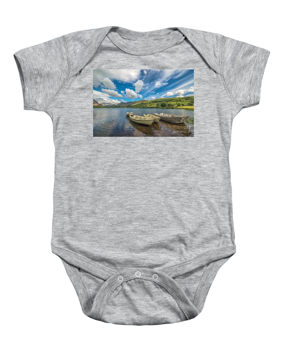Boat Baby Onesie featuring the photograph Welsh Boats by Adrian Evans