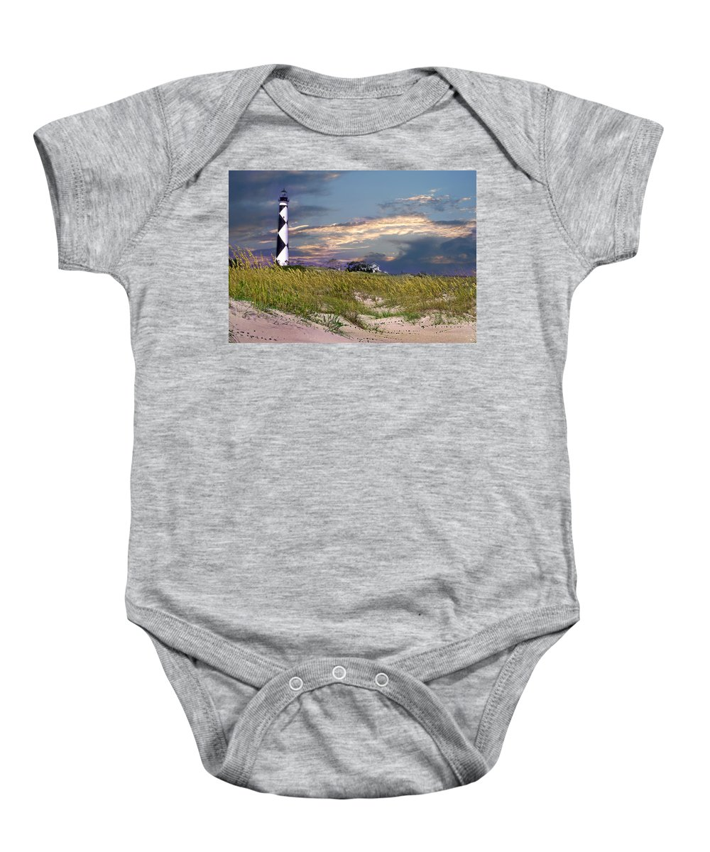 Nc Baby Onesie featuring the photograph Western Front Cape Lookout by Skip Willits