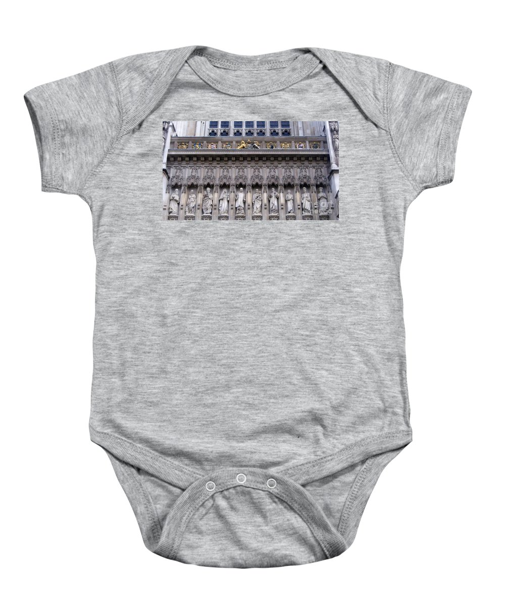 Westminster Baby Onesie featuring the digital art Westminster Abbey 1 by David Voutsinas