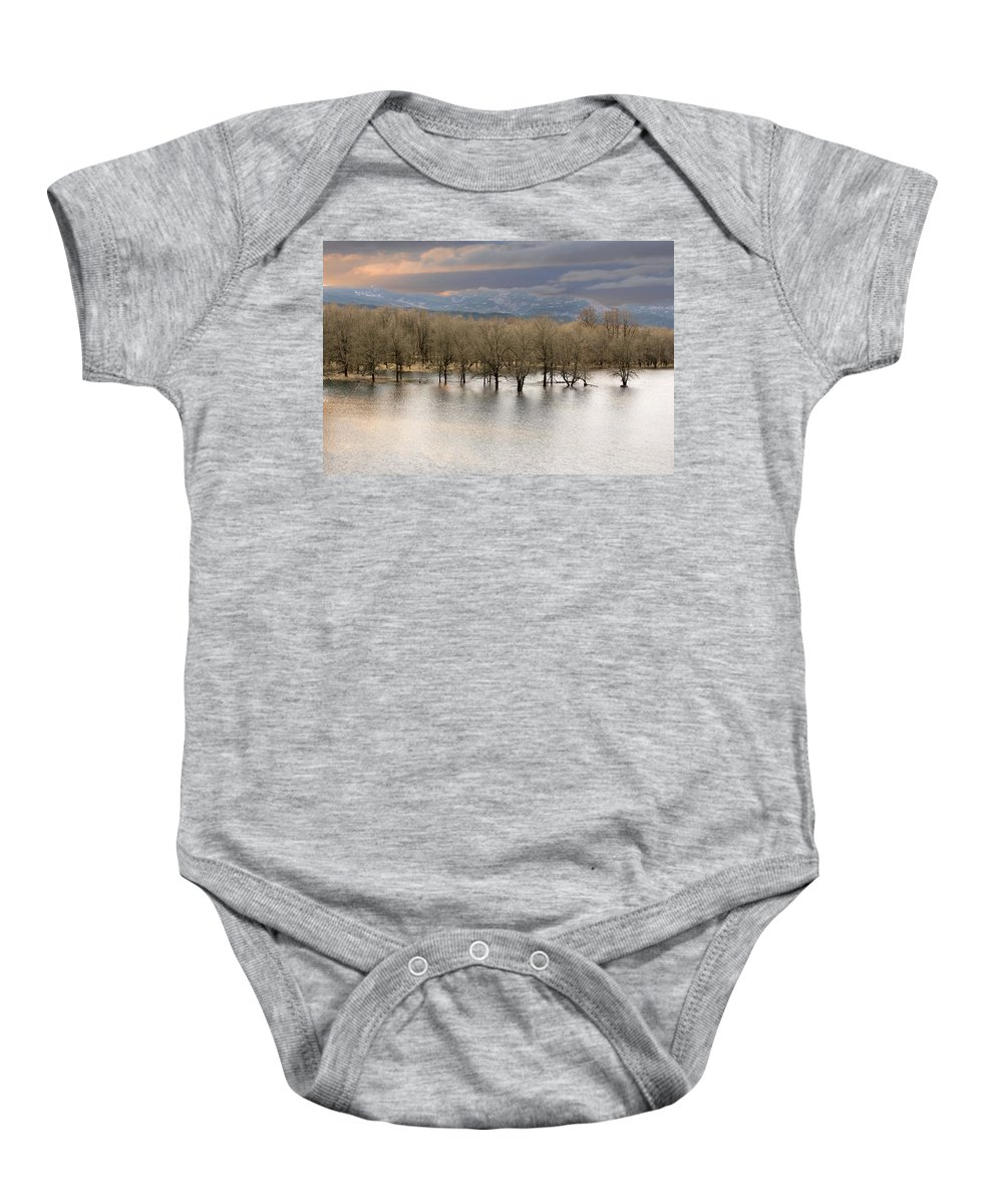Wetlands Baby Onesie featuring the photograph Wetlands At Columbia River Gorge by Jit Lim