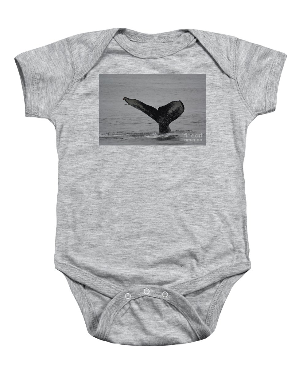 Whale Baby Onesie featuring the photograph Whale Tail by Deanna Cagle