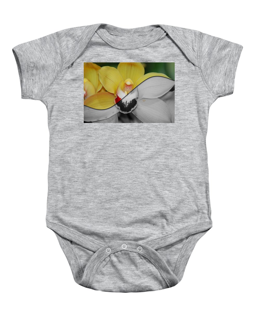 Flower Baby Onesie featuring the photograph What Life Would Be Like Without Color by Trish Tritz