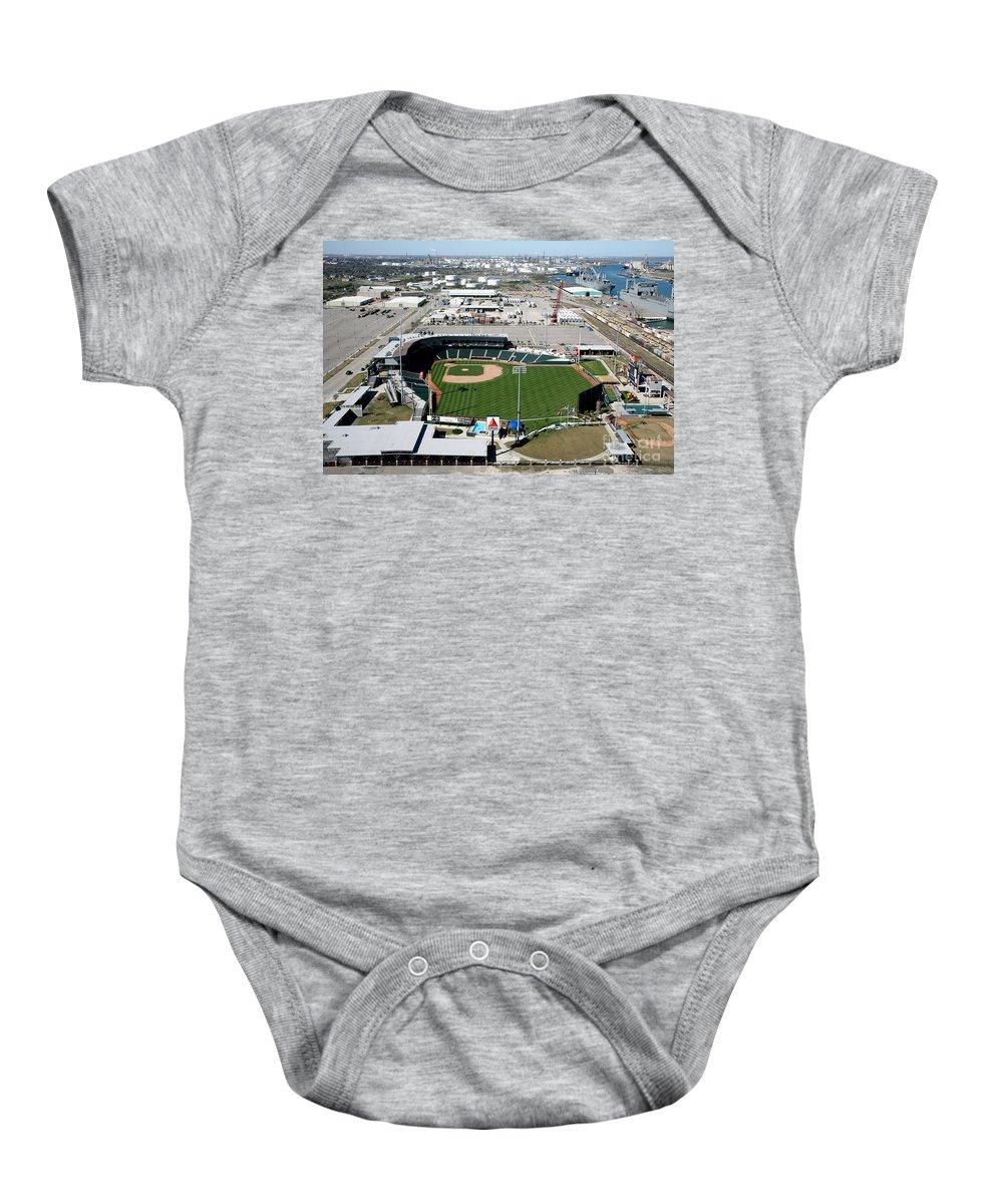 Corpus Christi Baby Onesie featuring the photograph Whataburger Field Corpus Christi Tx by Bill Cobb