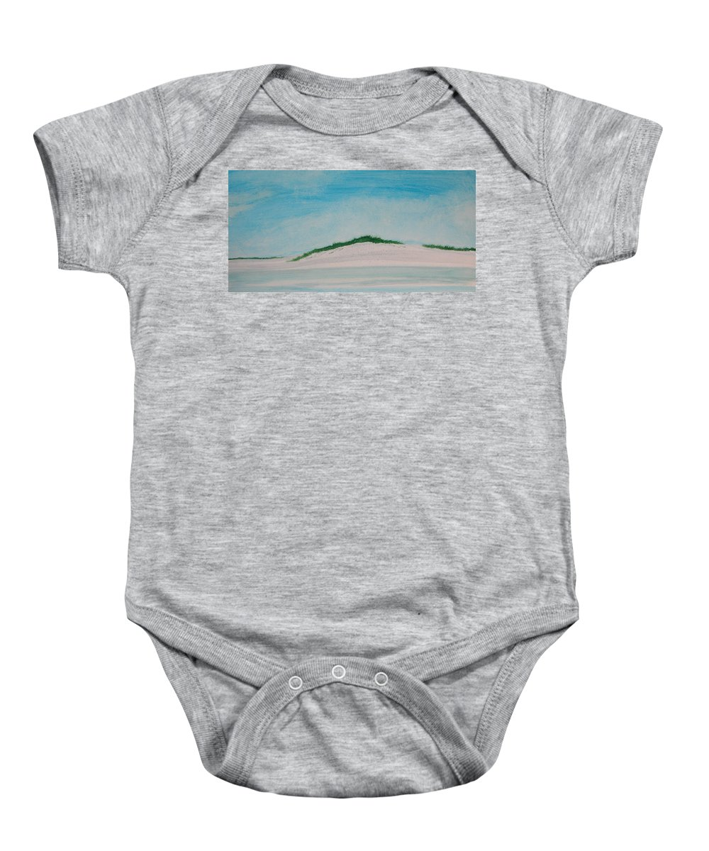 Beach Baby Onesie featuring the painting White Dunes by Rhodes Rumsey