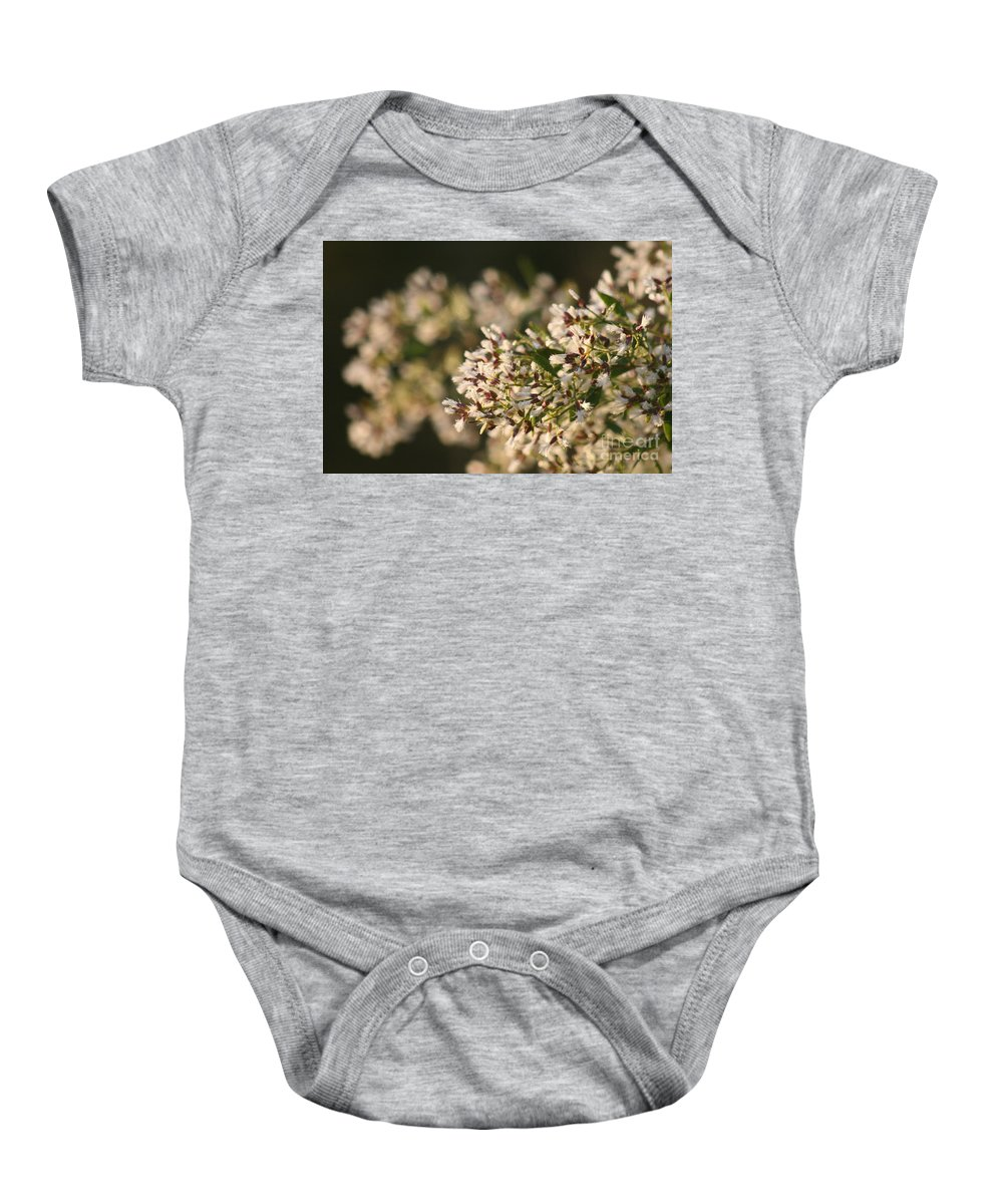 White Baby Onesie featuring the photograph White Flowers by Nadine Rippelmeyer