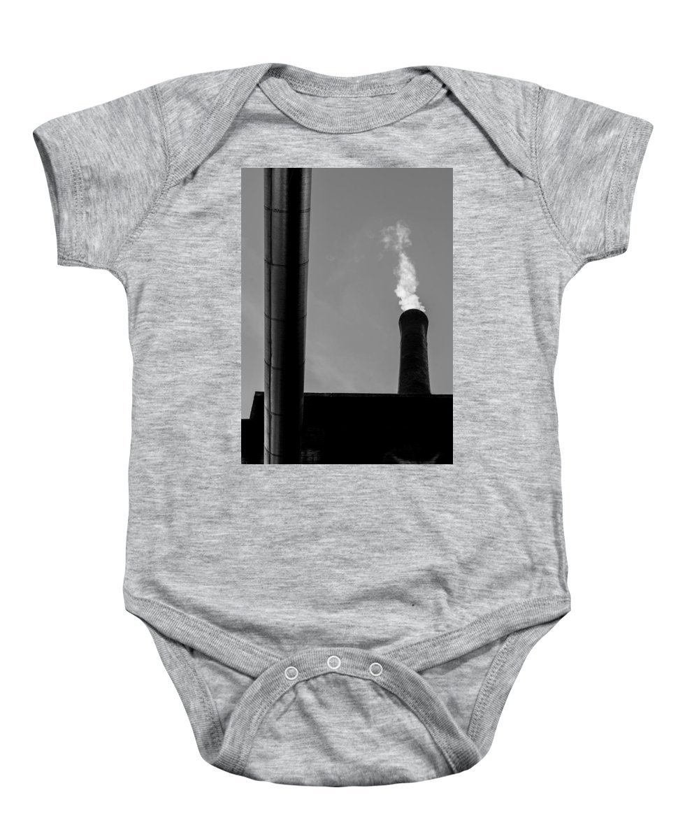 Smoke Baby Onesie featuring the photograph White Smoke by Bob Orsillo