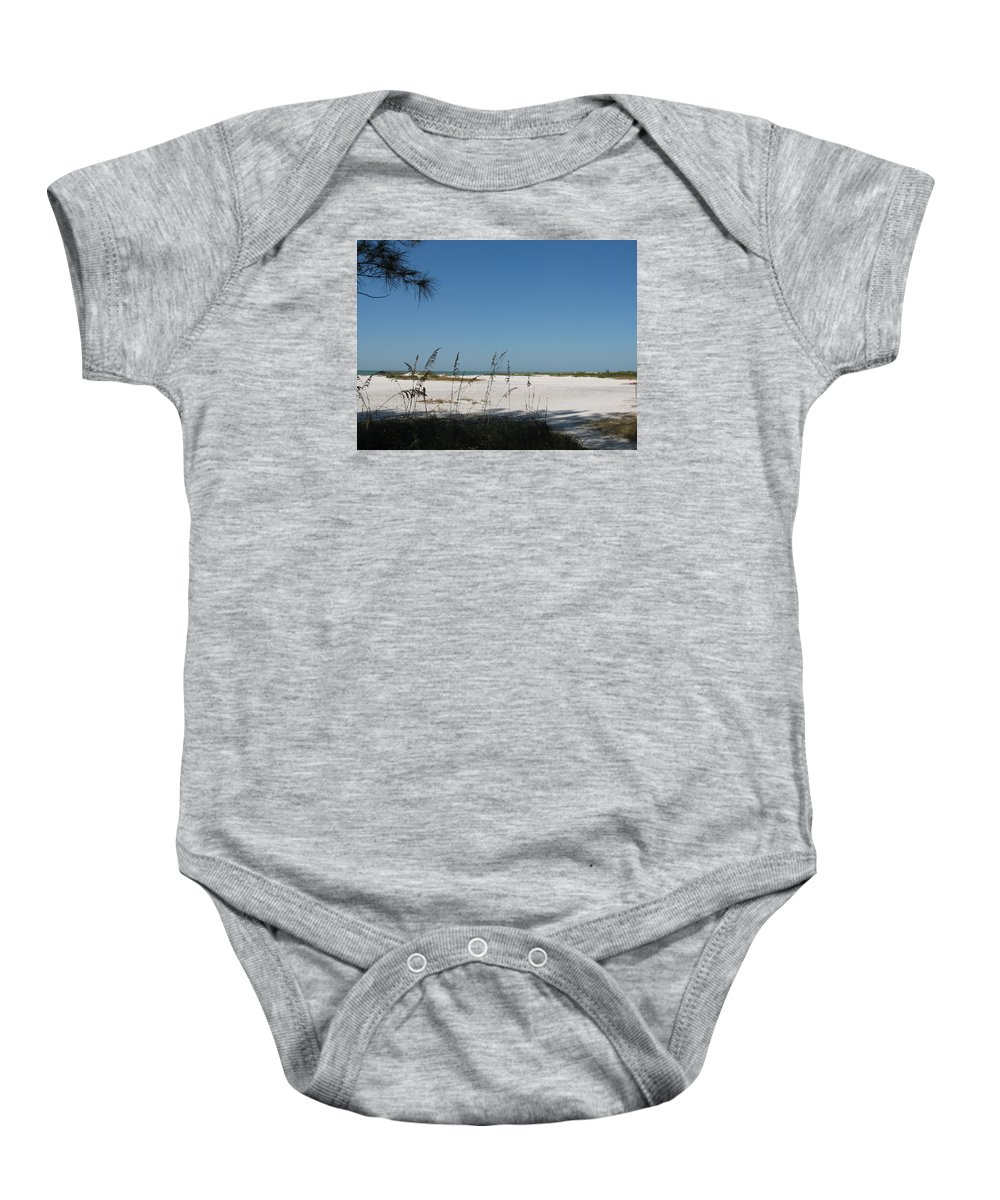 Beach Baby Onesie featuring the photograph Whitesand Beach by Christiane Schulze Art And Photography