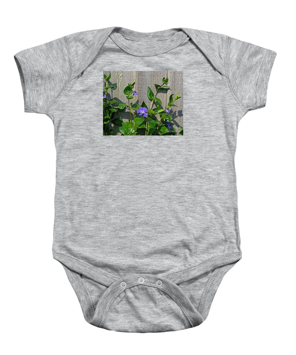 Purple Baby Onesie featuring the photograph Wildly Purple by Ann Horn