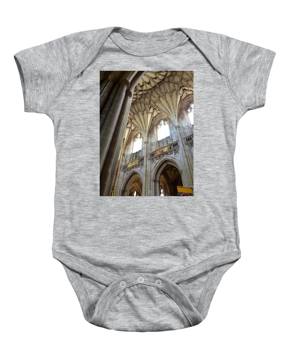 Winchester Baby Onesie featuring the photograph Winchester Cathedral by Lois Ivancin Tavaf