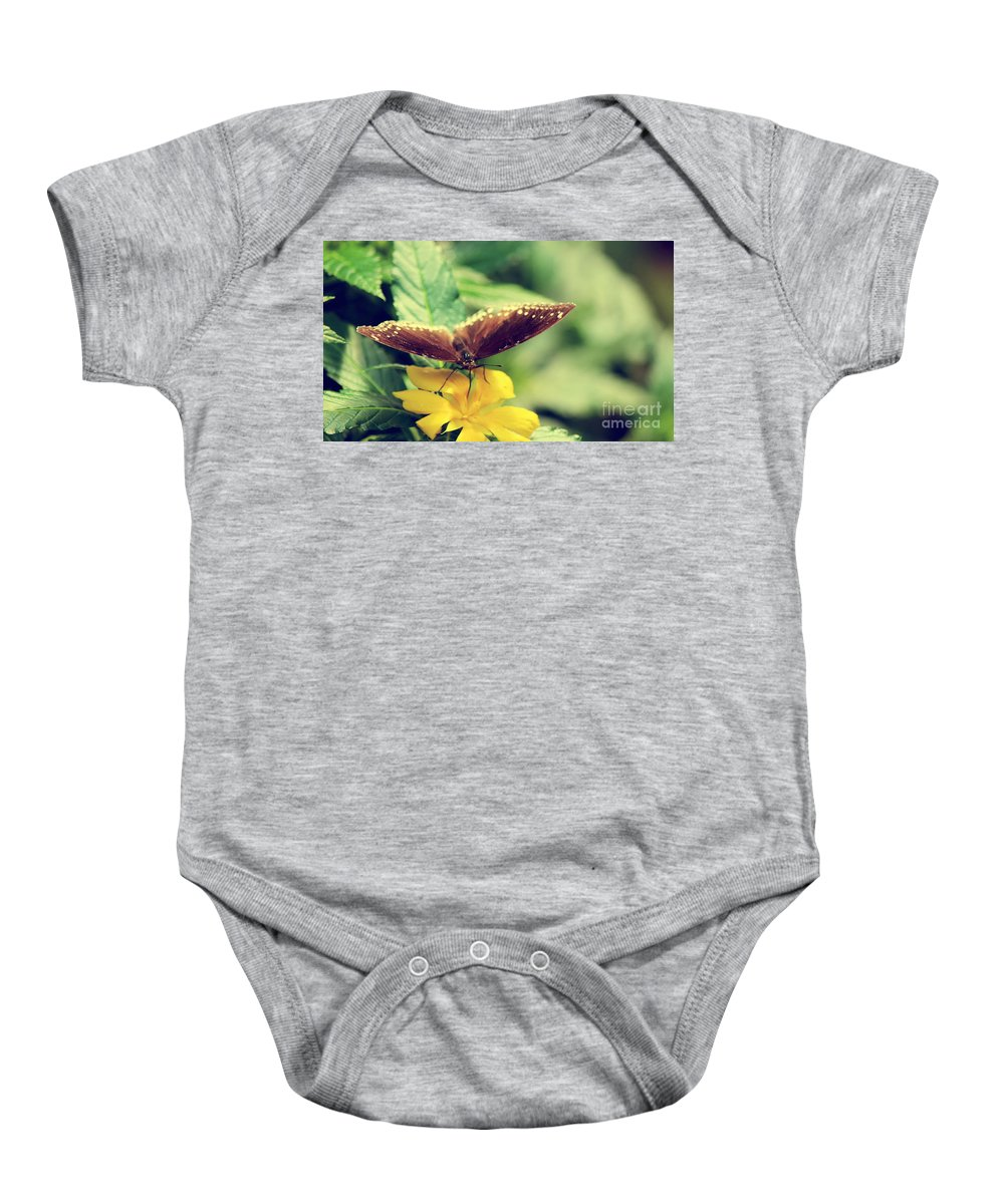 Photography Baby Onesie featuring the photograph Wing Check by Jackie Farnsworth