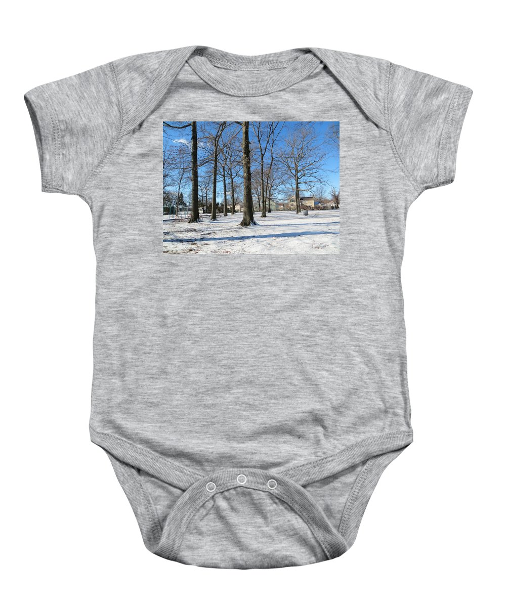 Winter Afternoon Baby Onesie featuring the photograph Winter Afternoon by Sonali Gangane
