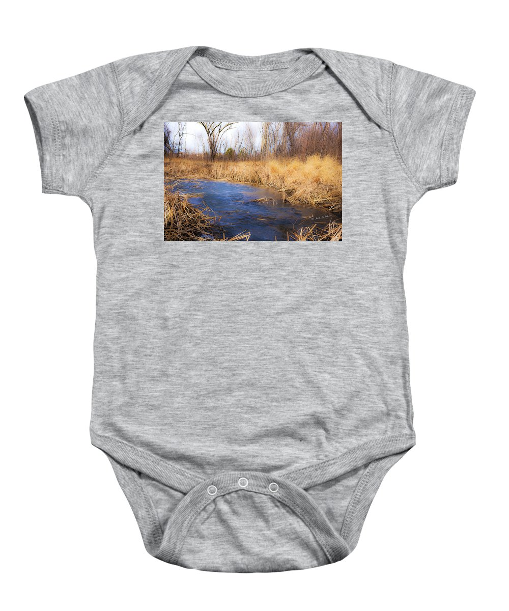 Spring Baby Onesie featuring the photograph Winter Fade by Edward Peterson