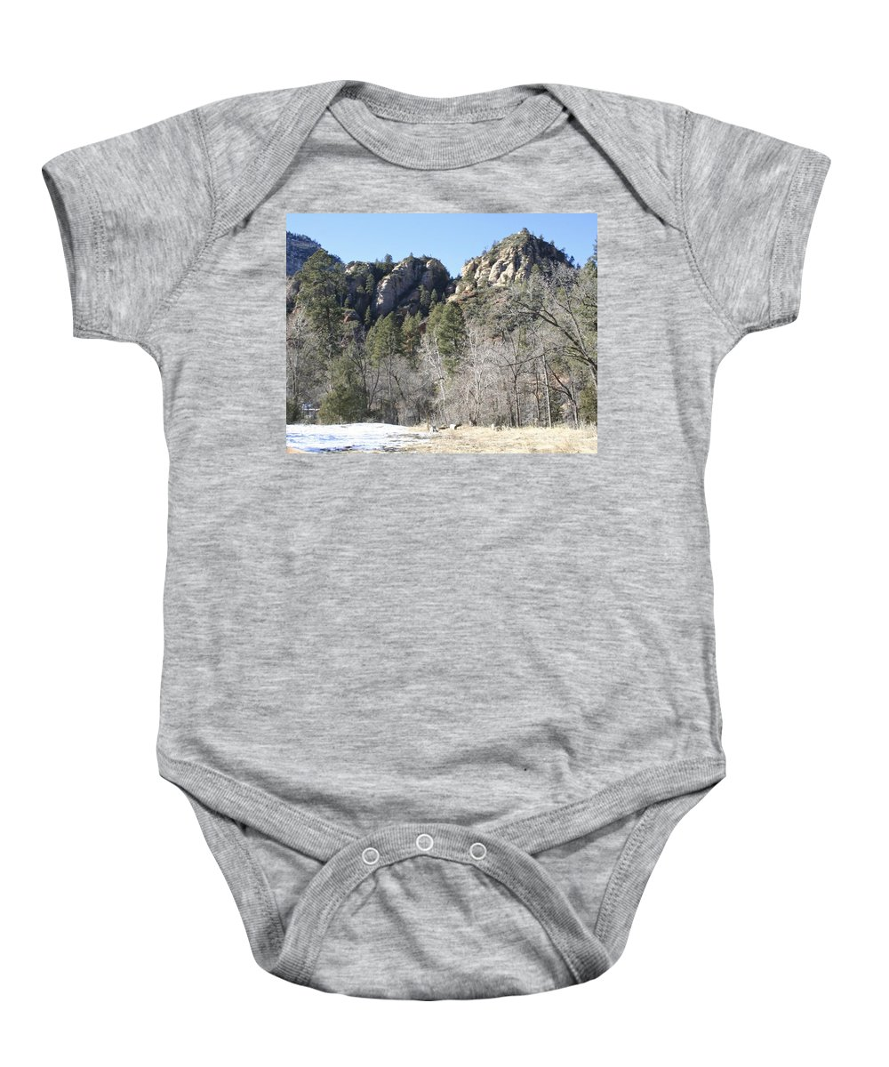 Arizona Baby Onesie featuring the photograph Winter In Arizona by Christy Gendalia