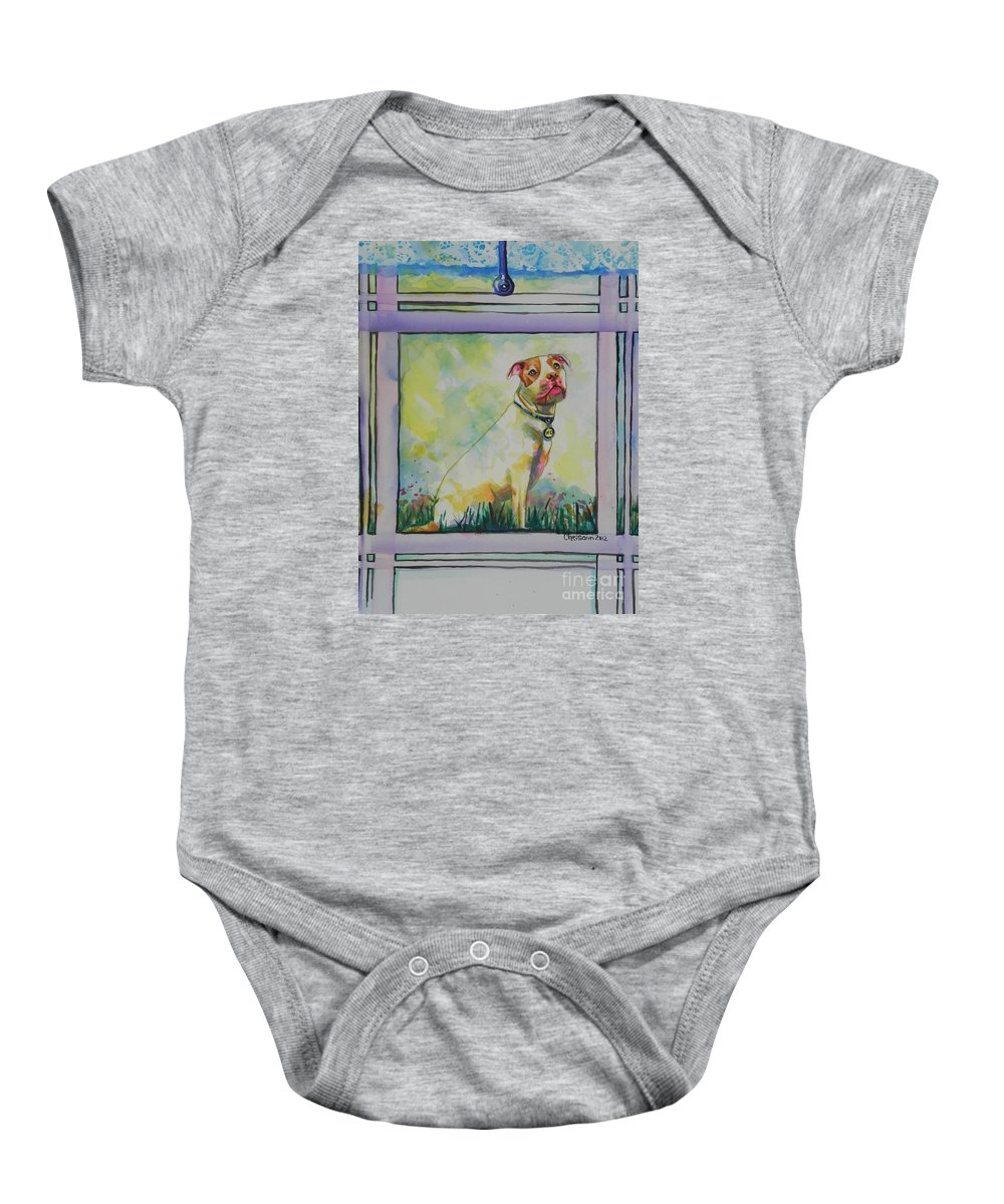 Watercolor Painting Baby Onesie featuring the painting You Are My Sunshine by Chrisann Ellis